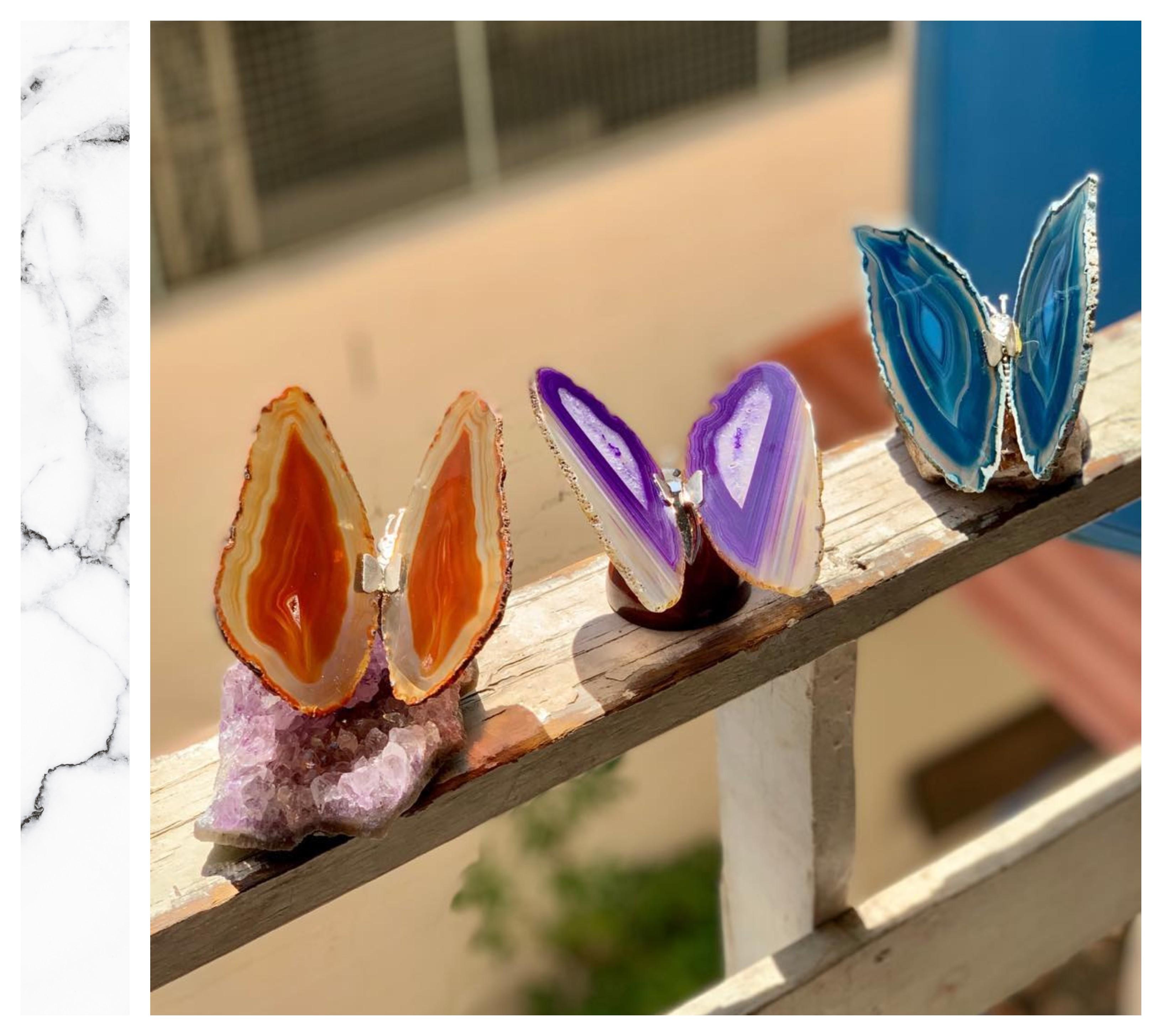 borboletas agata cornalina shop dos cristais