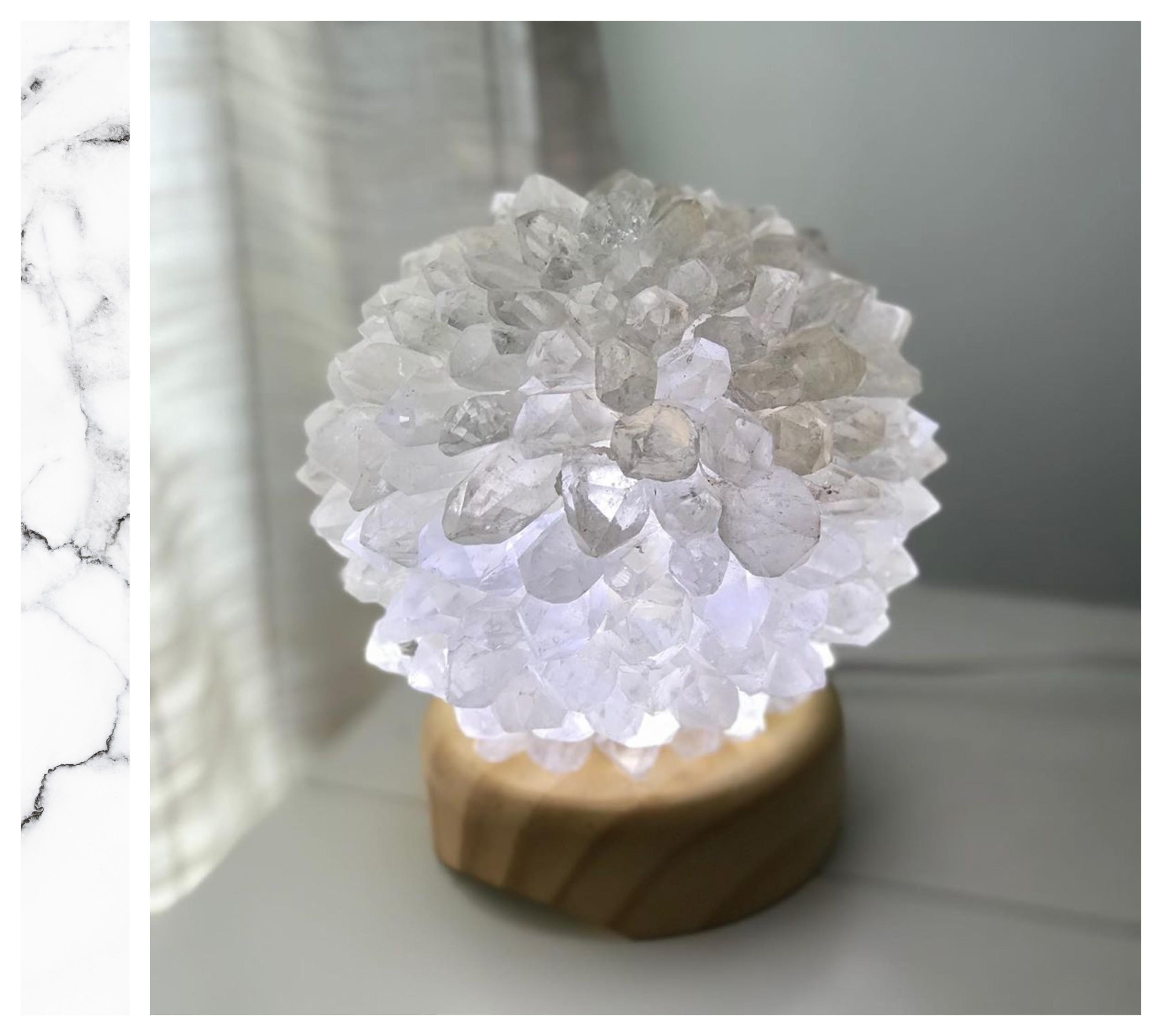 luminaria quartzo cristal decore seu escritorio