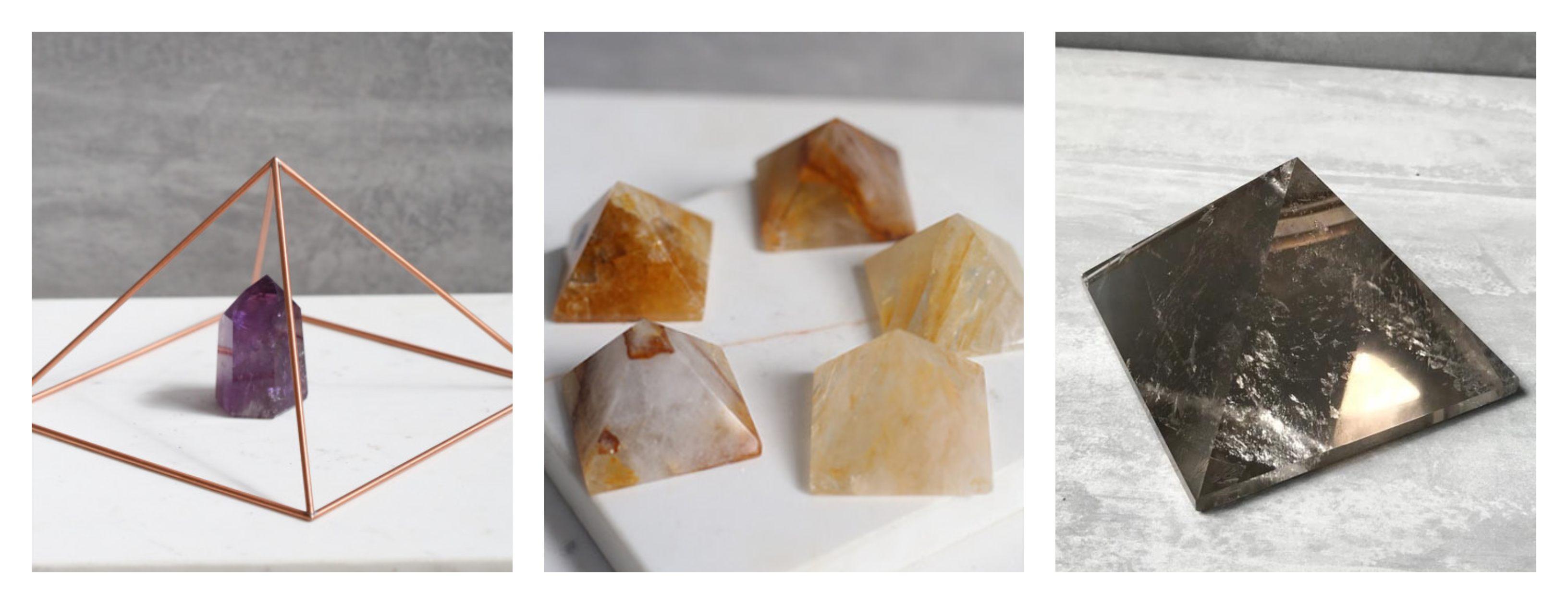 piramides como energizar sua pedra shop dos cristais