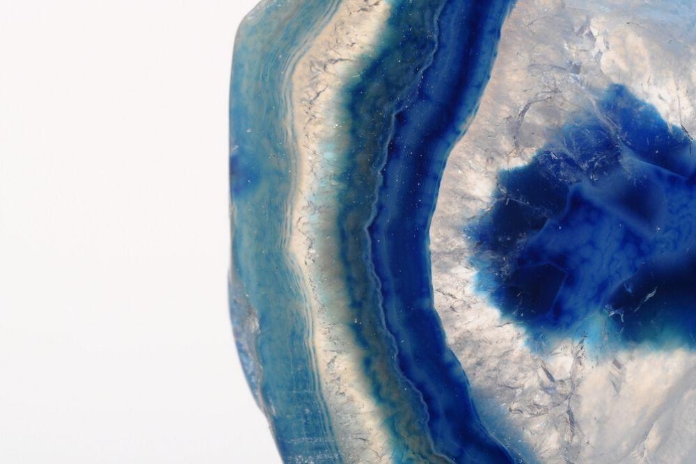 vista da pedra agata azul