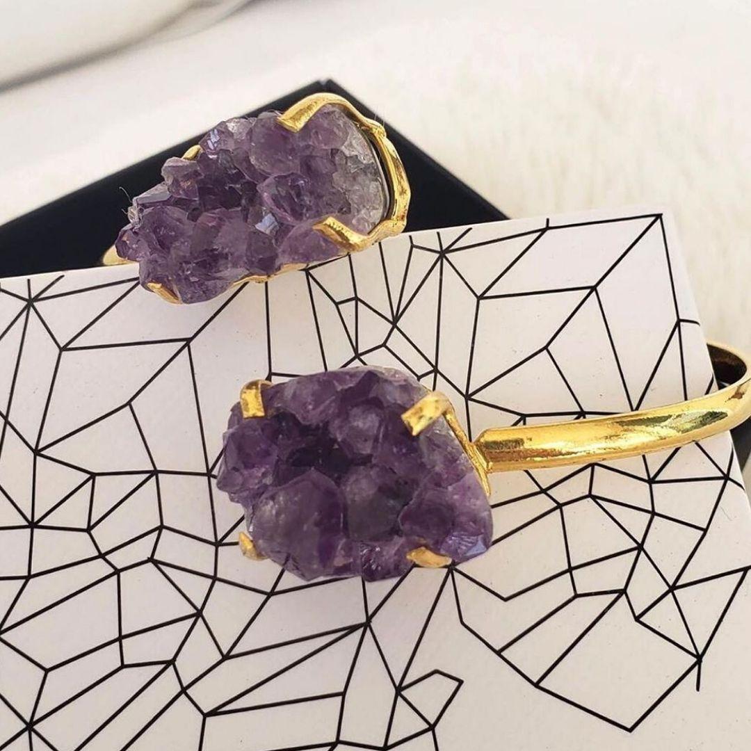 bracelete de ametista da marca shop dos cristais