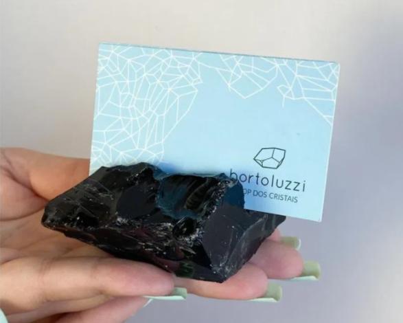 obsidiana negra porta cartões